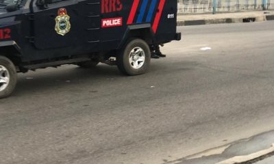 Lagos Police Place Armored Tank, Vehicles At Venue Of Protest (PICS)